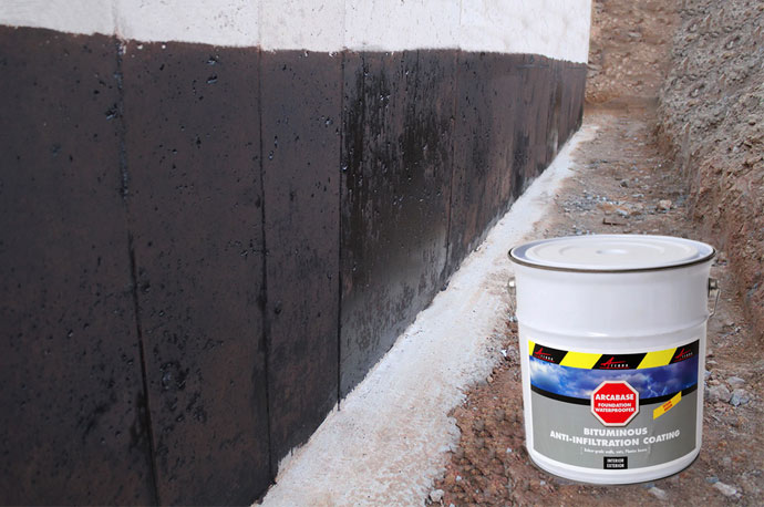 Foundation waterproofer waterproof underground building - Sealing exterior cinder block walls ...