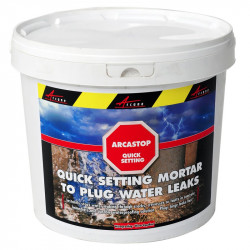 ARCASTOP - Quick setting mortar to plug leaks Durable Low shrinkage Rapid strength gain Repair water pipes