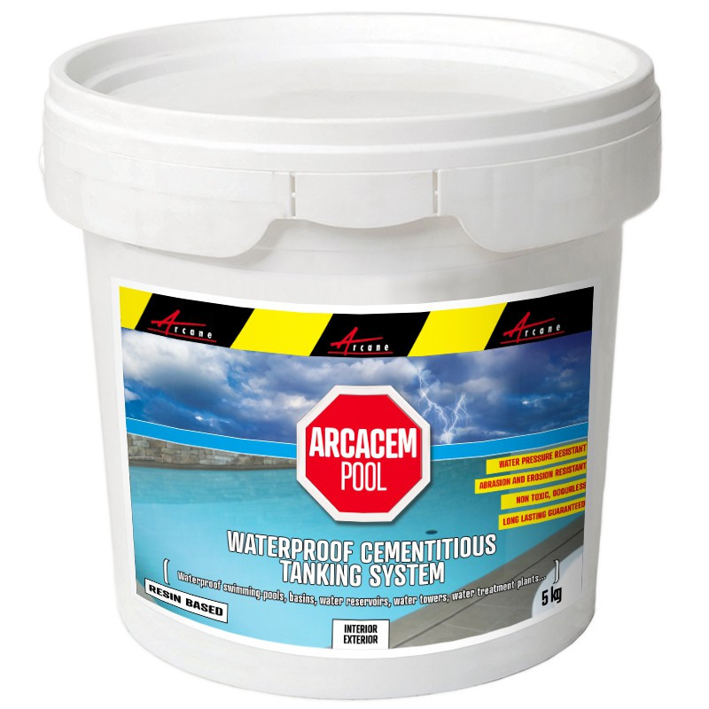 Waterproof Paint For Pools : Cementitious waterproofing tanking pool reservoirs