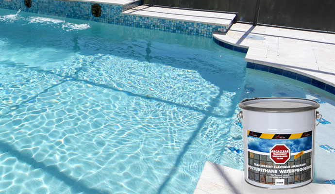 Waterproof Paint For Pools : Transparent waterproof resin for tiled pools ponds