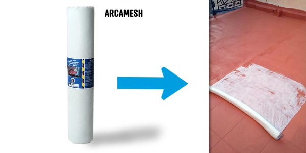 reinforce cracks and joints with arcamesh to be used with arcaroof