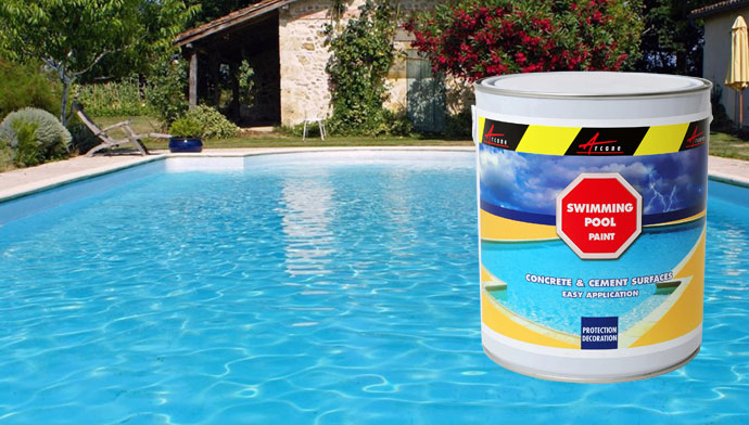 Swimming pool paint pond decorative protective concrete for Acrylic paint water resistant