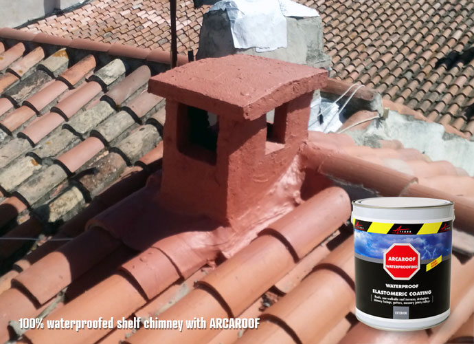 waterproof shelf chimney